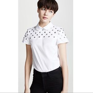 Red Valentino Collared Embellished Blouse